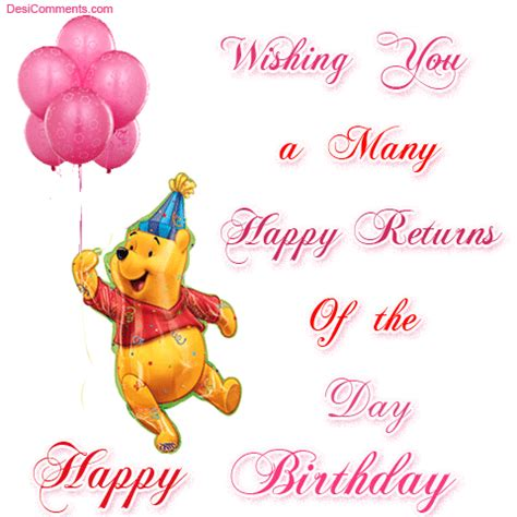 Many Happy Returns by Wishing You A Many Happy Returns Of The Day Desicomments