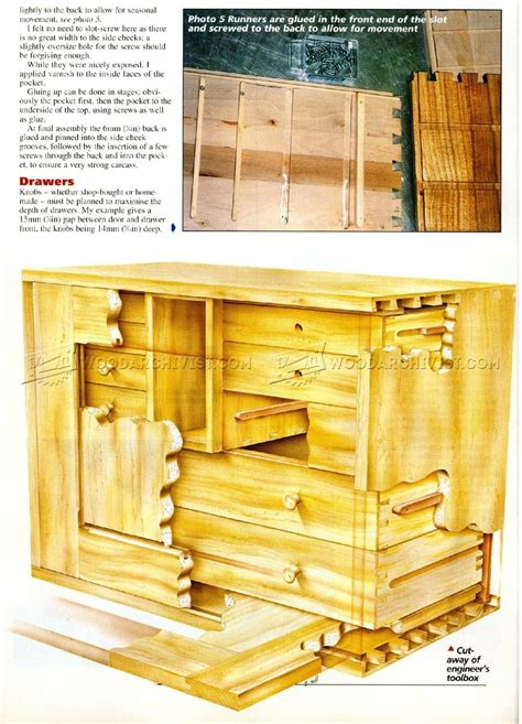 tool box plans woodarchivist