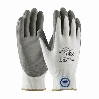Gloves Resistant Cut Industrial Dyneema Coated Pu