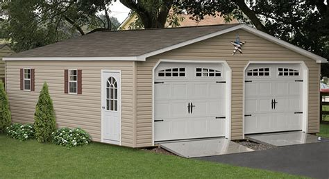 pre built 2 story garage prefabricated 2 car garages amish made garage amish