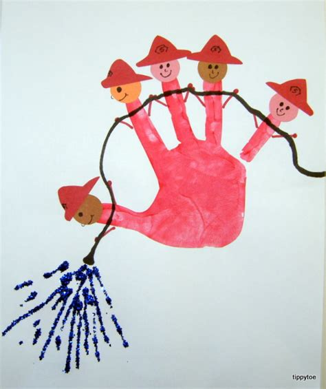 tippytoe crafts five firefighters 554 | firefighters %25282%2529