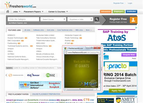 advertise with freshersworld to popularize your brand
