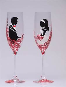 63 best red white romance wedding themes images on With decorating wedding glasses for bride and groom