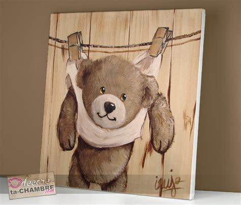 decore ta chambre tableau ourson pince linge pour la dco vente tableau