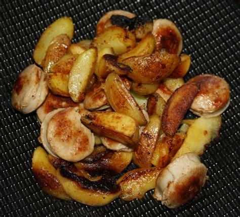 comment cuisiner boudin blanc poêlée de boudin blanc pomme de terre et pommes verre