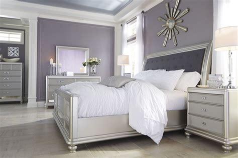 silver bedroom set coralayne silver bedroom set b650 157 54 96 furniture