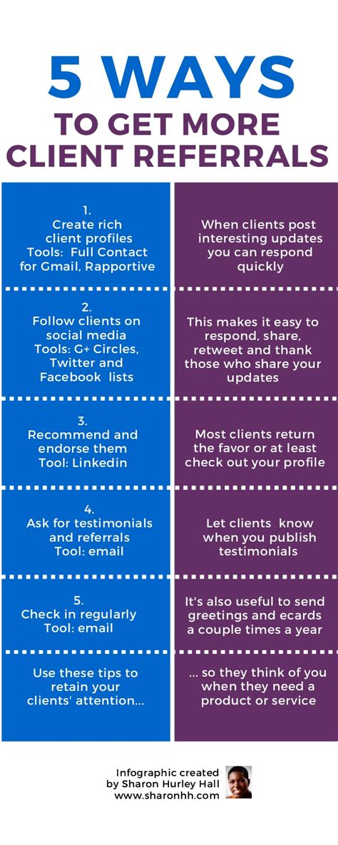 5 Ways To Get More Client Referrals Infographic