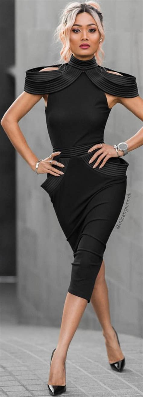 Zhivago Midi Black Dress Holiday Style Inspo by Micah Gianneli | Micah Gianelli | Pinterest ...