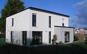 Facade Maison Grise : maison moderne facade grise ~ Melissatoandfro.com Idées de Décoration