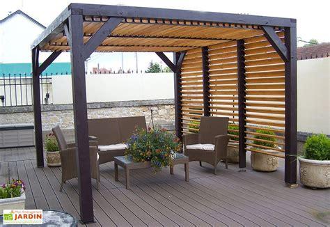 pergola bois adossée pergola bois pergola aluminium pergola fer forg 233 mon am 233 nagement jardin