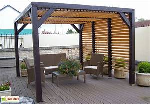 pergola bois pergola aluminium pergola fer forge mon With amenagement du jardin photo 3 batiments annexes maison bois rond