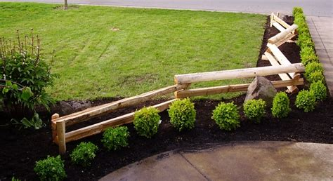 split rail fence landscaping ideas split rail fencing entrance tbo s green landscape