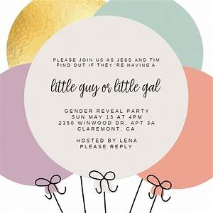 Cocktail Party Invitations Templates Free Baby Balloons Gender Reveal Invitation Template Free