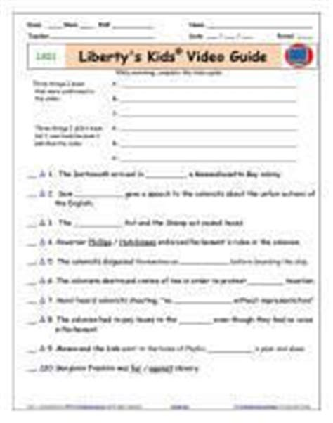 """Liberty's Kids Episode 2 Viewing Guide For """"the Intolerable Acts""""  School  Pinterest Student"""