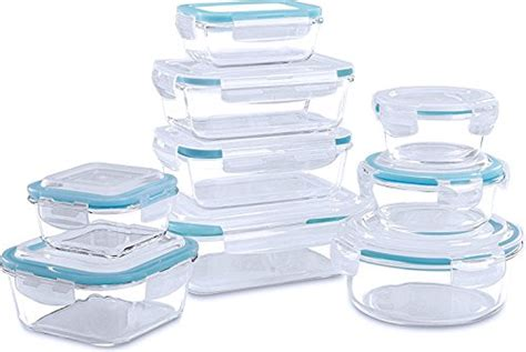 glass kitchen storage containers glass food storage container set 18 pieces 9 3800