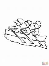 Rowing Coloring Pages Kayak Team Drawing Boat Printable Paddle Mulberry Bush Colouring Sketch Paddling Getdrawings sketch template