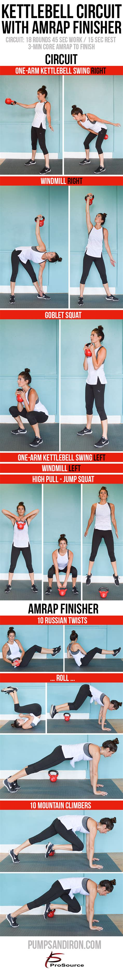 kettlebell circuit workout amrap finisher core minute exercises