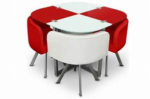 Ensemble table 4 chaises damier achat table pas chere for Idee deco cuisine avec chaise salle a manger cuir blanc