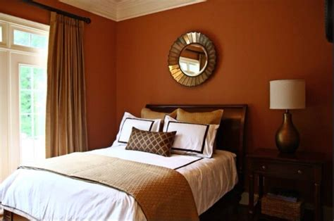 Burnt Orange Bedroom by Burnt Orange Walls Bedroom Decorating And Design