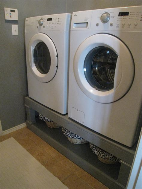washer dryer pedestal diy white washer dryer pedestal diy projects