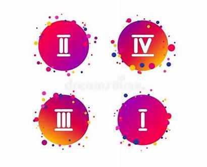 Icons Numeral Roman Numeric Gradient Equals Digit