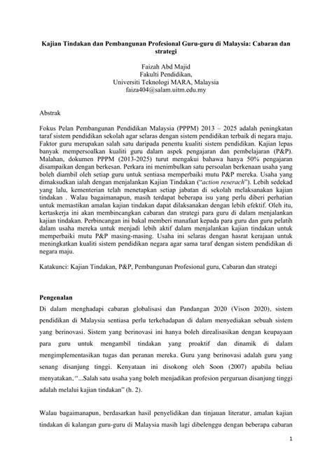 (PDF) Kajian Tindakan dan Pembangunan Profesional Guru