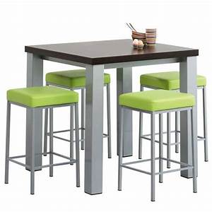 Table Cuisine Carrée : table de cuisine snack carr e en stratifi quadra 4 ~ Teatrodelosmanantiales.com Idées de Décoration