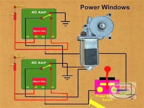 How Wire Power Window Relay Youtube