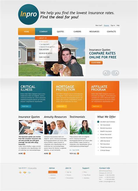 Insurance agent website templates creative images. Insurance Website Template #33472