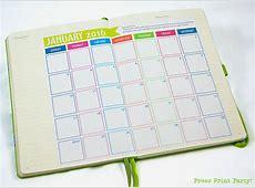 2016 Bullet Journal Calendar FREE Press Print Party