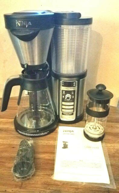 Buyer's guide to select the best ninja coffee maker. Ninja - Coffee Bar Brewer CF081 with Glass Carafe - Stainless Steel/Black for sale online | eBay