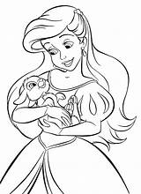 Coloring Princess Disney Ariel Pages Walt Characters Fanpop Personajes sketch template