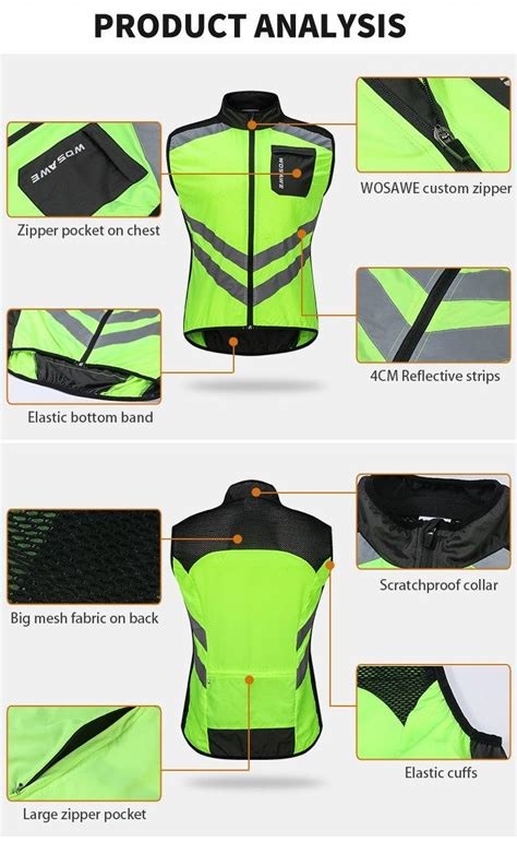 wosawe motorcycle reflective vest high visibility