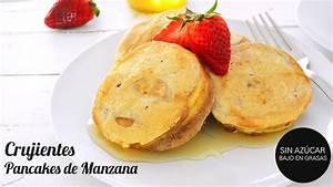 desayuno saludable pancakes de manzana crujientes