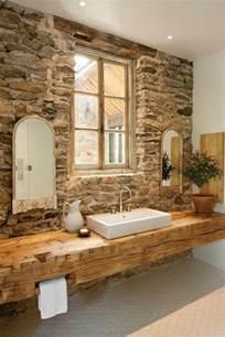 rustikales badezimmer ausgefallene designideen für ein landhaus badezimmer archzine net