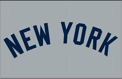 Yankees York Jersey Logos Wordmark Road Sportslogos