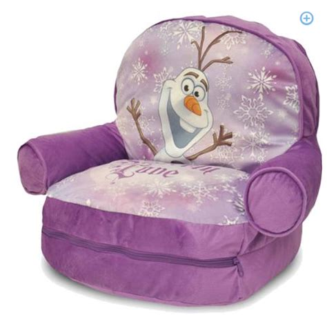 kmart frozen bean bag chair disney frozen bean bag with bonus slumber bag only 19 98