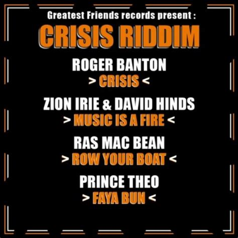 Row Your Boat Download by Row Your Boat Crisis Riddim Mac Bean Ras