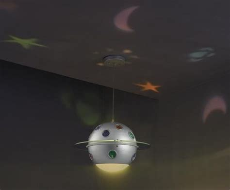 child s room solar system ceiling light projector