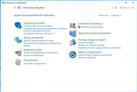 windows 10 ajouter le raccourci panneau de configuration