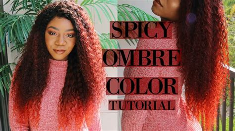 Spicy Ombre Hair Color Tutorial Ft Unice Hair [video
