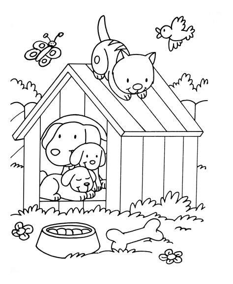 dog cat birdjpg animals adult coloring pages