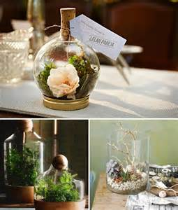 rustic wedding reception ideas wedding diy project diy terrarium for the table centrepieces onefabday