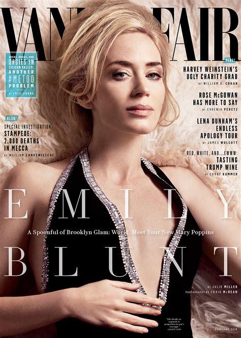 vanity fair cover emily blunt gushes krasinski s acting on the
