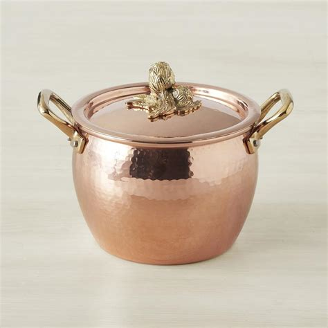 ruffoni copper artichoke handled stock pots williams