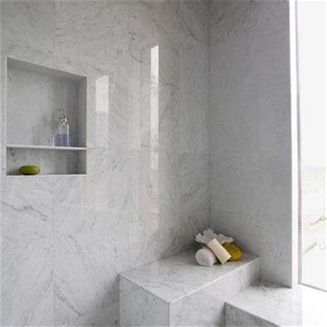 Shower Niche Height by Gray Marble Shower Tiles Design Decor Photos Pictures