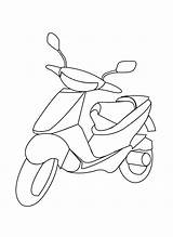 Scooter Pages Coloring Transport Means Drawing Moped Printable Preschool Getdrawings sketch template