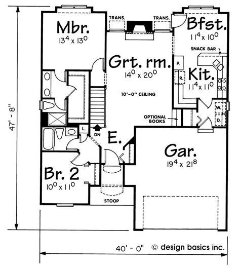 house plan    bedroom  sq ft ranch small home theplancollection
