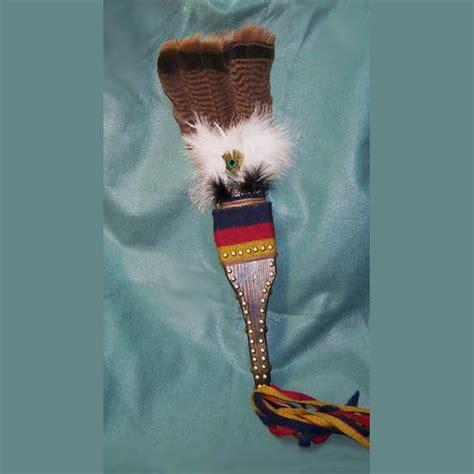 native american turkey tail feather fan lost river