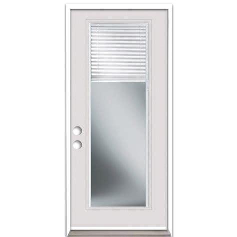 exterior door with blinds between glass shop reliabilt blinds between the glass left inswing